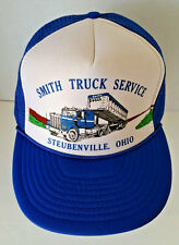 "VTG Trucker Hat ""Smith Truck Service"" Steubenville Ohio Blue Mesh Snapback H3"