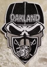 """Oakland Raiders BIG 5"""" Iron On Embroidered Patch ~USA Seller~FREE Ship"""