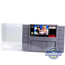 5 X Protettori GIOCO Super Nintendo SNES carrello NTSC Cartuccia 0.4 mm custodia in plastica