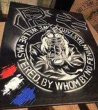 Rangers Fc Painted Canvas ICF