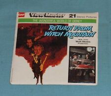 vintage Disney RETURN FROM WITCH MOUNTAIN VIEW-MASTER REELS packet with booklet