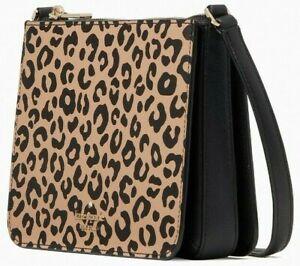 Kate Spade Darcy Leopard Crossbody Animal Print WLR00689 NWT Cheetah $249 Retail