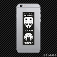 We Are Anonymous Occupy the Planet Cell Phone Sticker Mobile 0.99