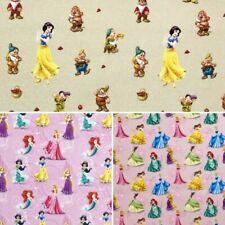 100% Cotton Digital Fabric Disney Princess Snow White Cinderella Ariel Belle