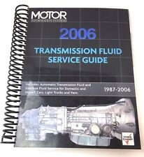 Motor Information Systems 2006 Transmission Fluid Service Guide 1987-2006 (H)