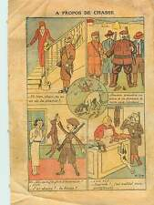 Costumes Tenue Chasse Lapins Chiens Fusil Rifle Hunting Rabbit 1932 ILLUSTRATION