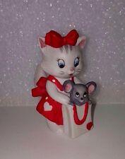 Vintage Lefton Kitten & Mouse Figurine Collectible Kitty Cat Mice