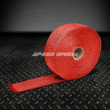 """T1 RACING EXHAUST HEADER TURBO MANIFOLD DOWNPIPE HEAT WRAP 2""""X 1/16 X 295"""" RED"""