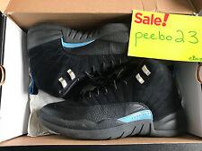 Used Nike Air Jordan Retro XII 12 Black UNC Tar Heels Size 11.5