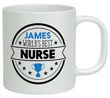 Personalised Any Name Worlds Best Nurse White 10oz Novelty Gift Mug Cup