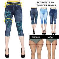Femme Denim Look  Imprimé Shorts Taille Hauts Eté Carpi Pantalons