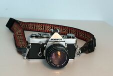Vintage OLYMPUS OM-1 Camera With 50mm Lens & Case Tested Meter Issues