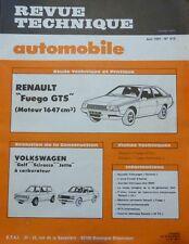 Neuve de stock ! Revue technique RENAULT FUEGO GTS moteur 1647 cm3 RTA 412 1981