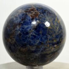 "2.3"" Natural Blue Sodalite Sphere Gemstone Crystal Mineral Ball - Africa + Stand"