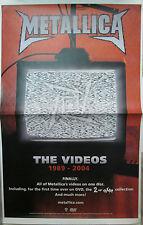 METALLICA The Videos 89-04, orig Warner Bros promo poster, 2006, 11x17, EX,metal