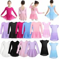 Girls Ballet Dance Skating Gymnastics Dress Tutu Leotard Skirt Ballerina Costume