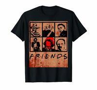 Scary Friends Horror Halloween IT Jason Michael Myers Parody Black T-Shirt S-6XL