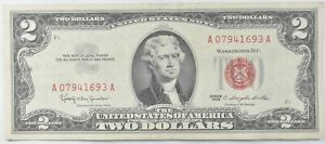 Crisp 1963 Red Seal $2 United States Note - Better Grade *812
