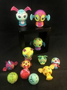 Zoobies Zoobles Lot Of 12 Spin Master McD Toys Balls Animals Transforming