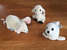 Dakin Plush White Seal Mouse And Lamb Baby Pup Sea Lion 1981, 83 Lot