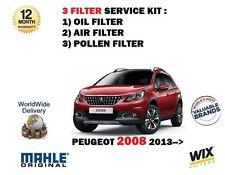 PARA PEUGEOT 2008 1.2 VTI 2013- > NUEVO DE ACEITE AIRE Y Polen 3 kit servicio