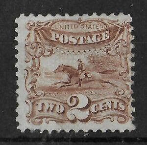 UNITED STATES Sc #113 Mint VLH OG Pictorial 2c Brown CV €525
