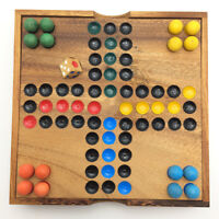 Ball Ludo Wooden Board Game (6.37 Inches)