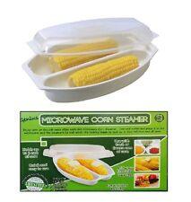 Genius Microwave Corn Steamer Corn on the Cob Fat Free Corns Kitchen Food Kids