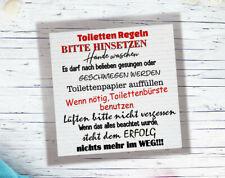Deko Fliese Toilettenregeln zum hinstellen Kachel Fliese Bild 15x20 cm Neu