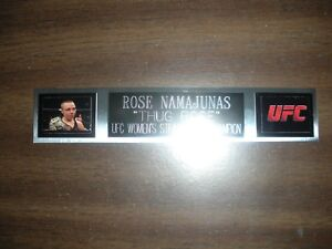ROSE NAMAJUNAS (UFC) ENGRAVED NAMEPLATE FOR PHOTO/POSTER/GLOVES/TRUNKS