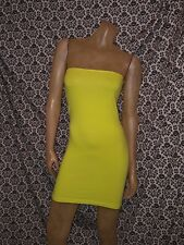 c4d00ec3c0 American Apparel Florescent Yellow Tube Contour Dress Womens XSMALL SMALL  NEW