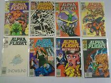 Alpha Flight lot 44 diff from #2-50 Newsstand avg 7.0 FN VF (1983-87 1st Series)