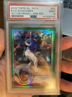 2018 Topps Kyle Schwarber Green Refractor 83 Throwback PSA 9 Chicago Cubs