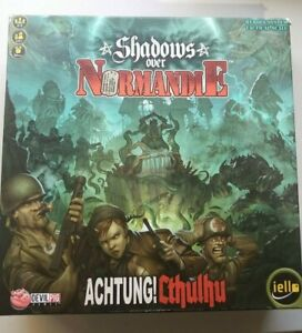 SHADOWS OVER NORMANDIE BOARD GAME cthulhu lovecraft war strategy jello 2015