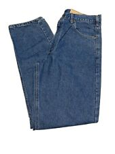 Carhartt NWT Men's Relaxed Fit Tapered Leg Denim Blue Jeans Size 36X34