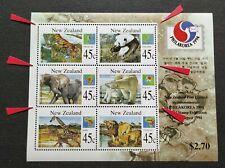 1994 New Zealand Animals PhilaKorea Stamp Exhibition MS (Perf Mis-aligned Error)