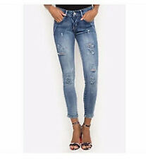 Balaynor Acid Wash Ripped Jeans with Free Blouse