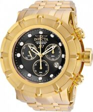 New Mens Invicta 23954 S1 Rally Swiss Chronograph Black Dial Gold 54mm Watch