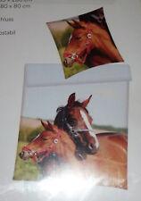 2tlg oder 4tlg.Bettwäsche Motiv Pferdemutter mit Fohlen 135 x 200 cm  Neu+Ovp