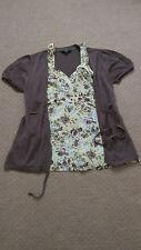 Señoras Chaqueta de punto & parte superior de la camisola de Dos Piezas Conjunto Talla 10