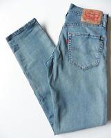 Men's 511 Levis Skinny Jeans W28 L31 Blue Size 28R Levi Strauss Distressed
