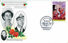 St VINCENT GRENADINES 1987 QUEEN 40th WEDDING ANNIVERSARY $1.50 FIRST DAY COVER