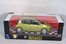 NEWRAY NEW RAY RENAULT CLIO 3 METALLIC GREEN MINT BOXED
