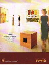 PUBLICITE ADVERTISING  2000   SCHOLTES  éléctroménager