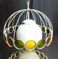 LEMONS AND LIMES! Mid-Century Single-Bulb Ceiling Light Fixture Vintage Retro