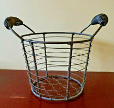 Small Rustic Chicken Wire Egg Basket Farmhouse Primitive Colonial Americana