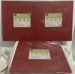 Stampin Up CHERRY COBBLER Textured DSP Paper Cardstock 12x12 Lot of 3