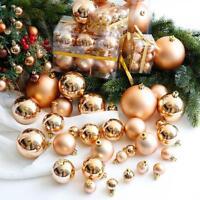 New 24Pcs Christmas Balls Hanger Baubles Xmas Tree Hanging Ornament Party Decor