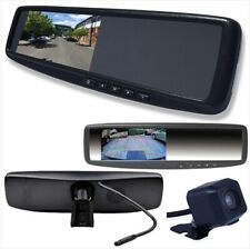 -4.3 inch LCD Backup RearView Mirror Monitor Kit with Reverse HD Camera 2 Inputs