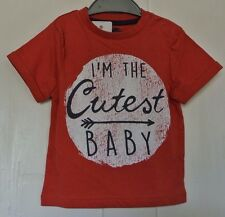 New baby boys 100% cotton T-shirt Brick red age 12-18 months